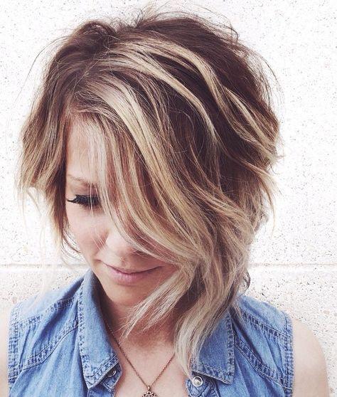 балаяж на коротких волосах