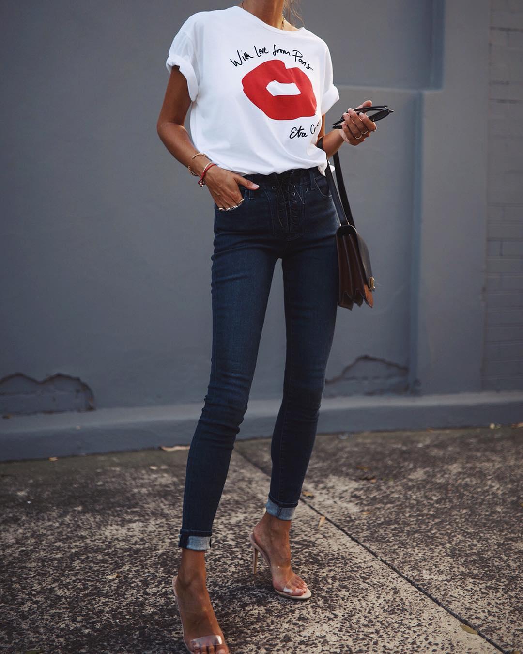 джинсы и футболка фото 8