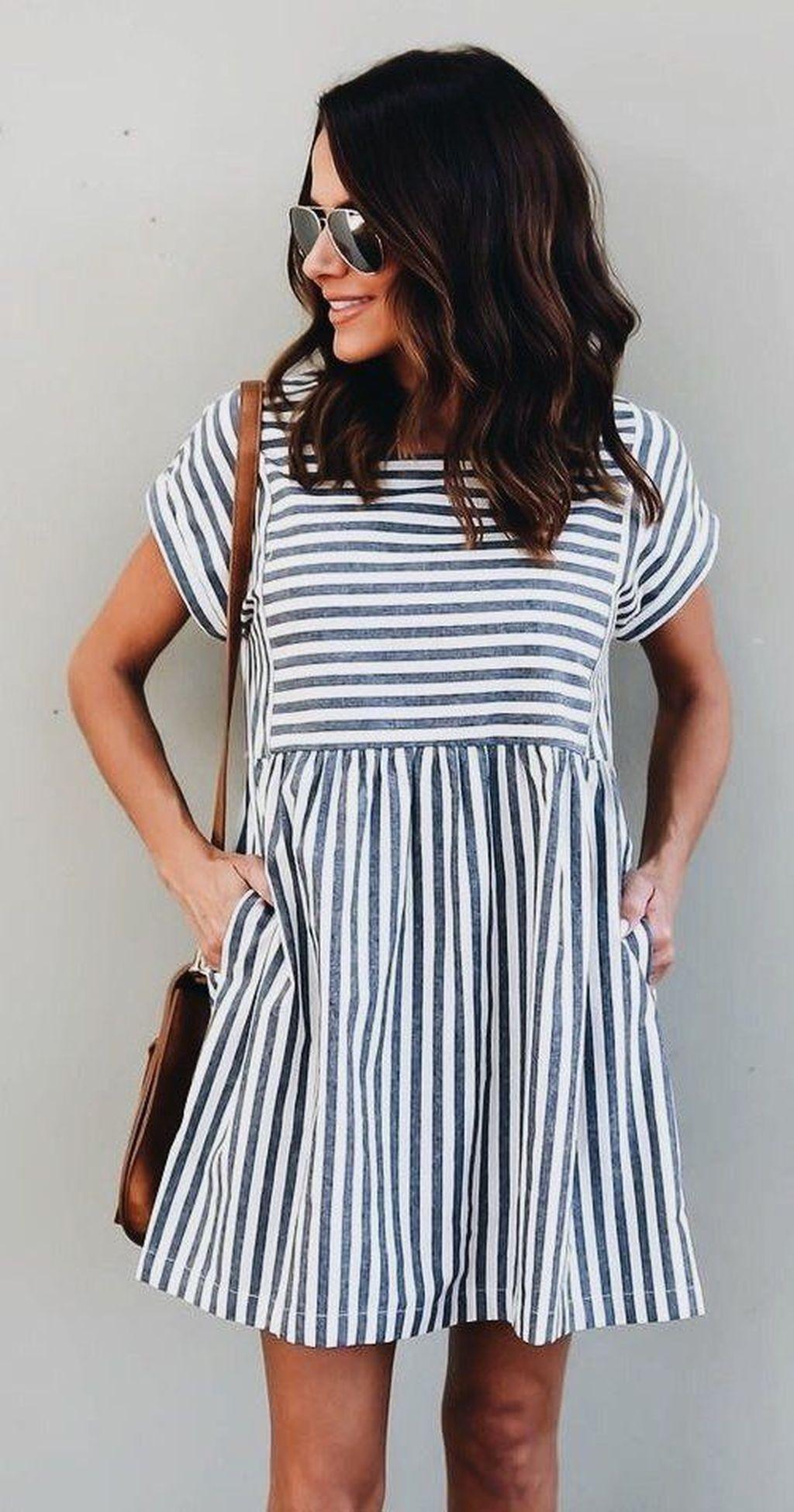 платье в полоску фото 12