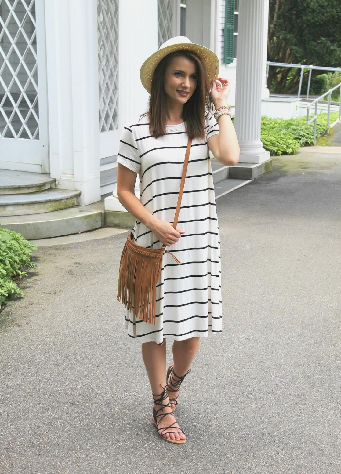 платье в полоску фото 15