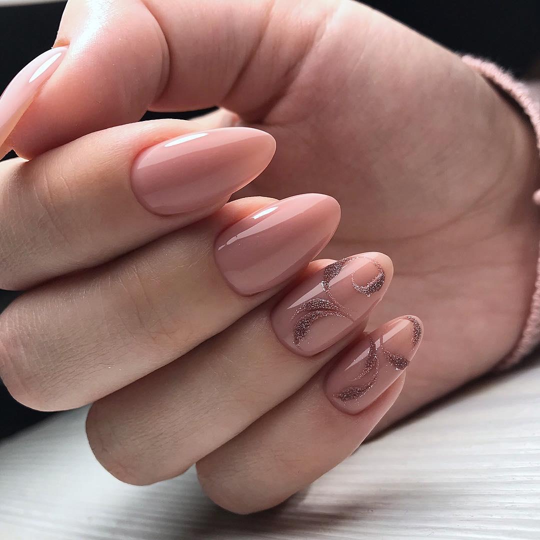 светло розовый маникюр 2019_24
