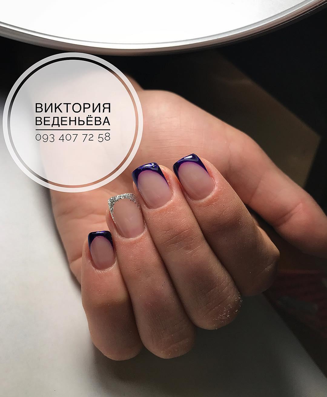Французский маникюр на короткие ногти_75