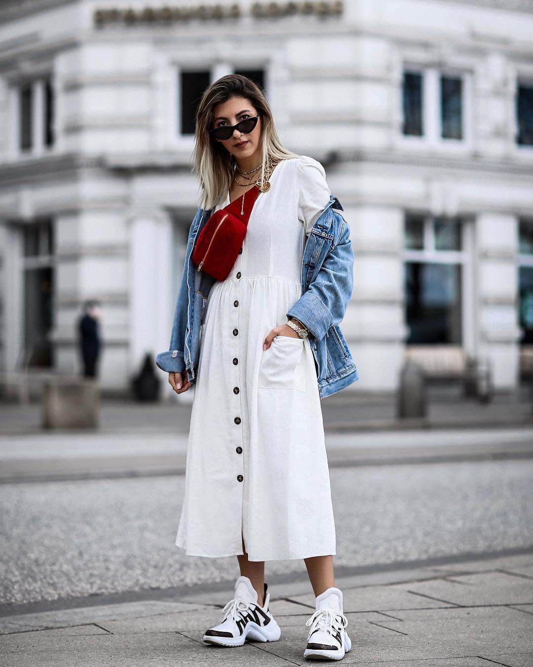 Платье с джинсовой курткой фото 6
