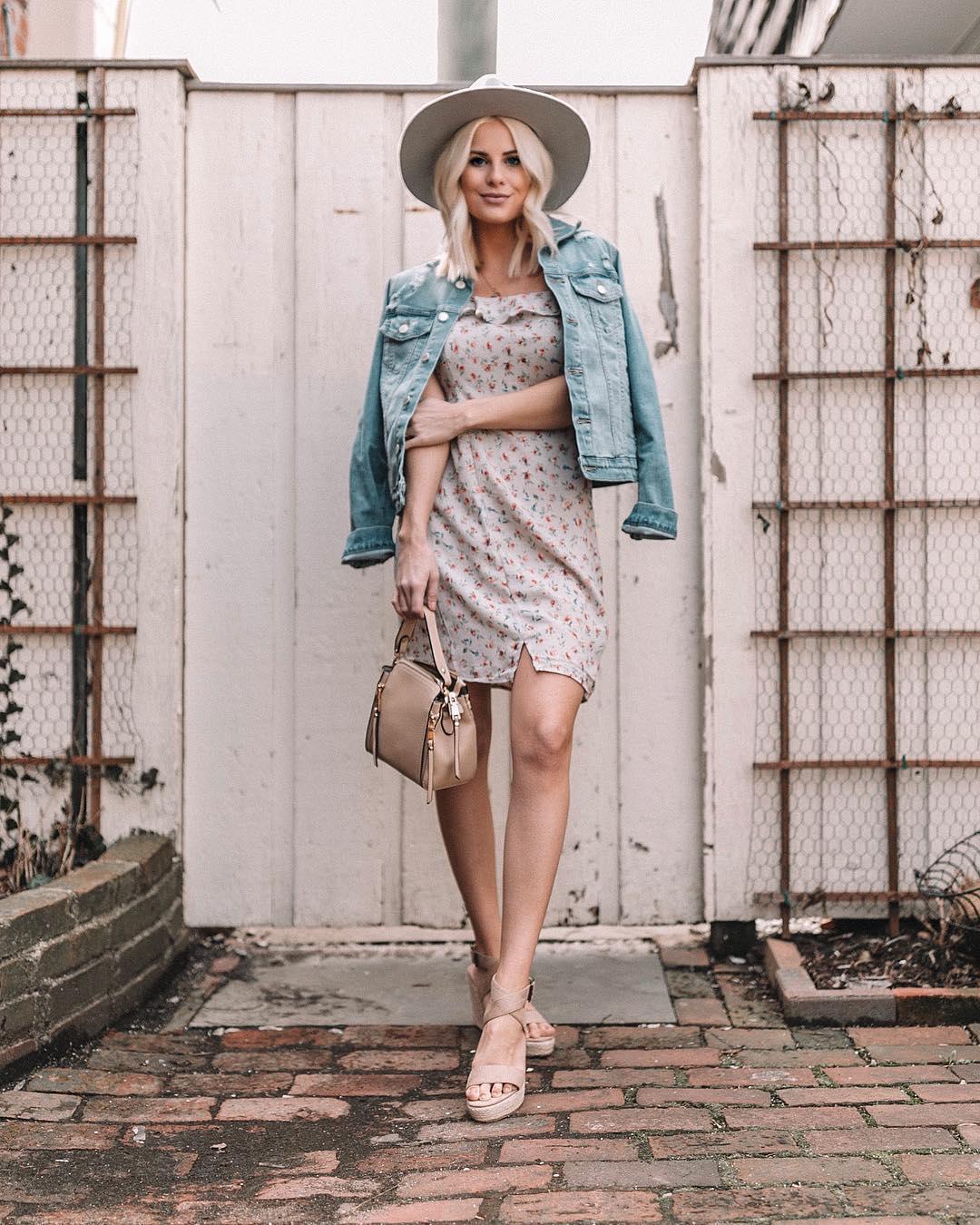 Платье с джинсовой курткой фото 8