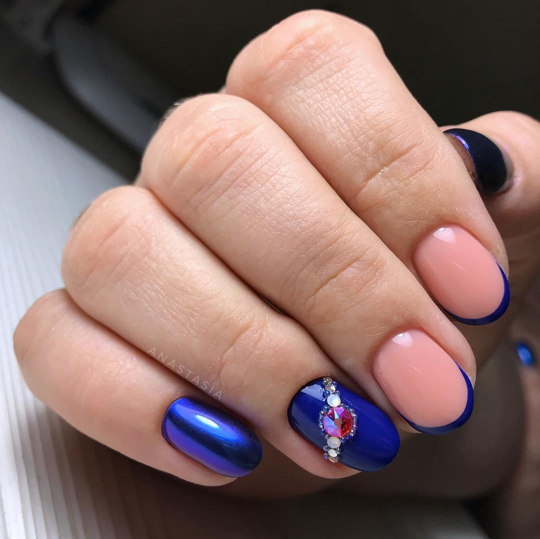 Французский маникюр на короткие ногти_23