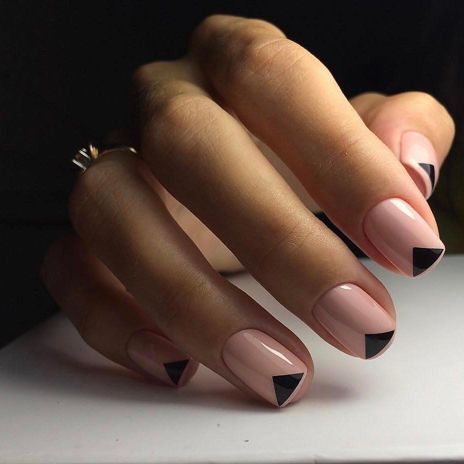 Французский маникюр на короткие ногти_61