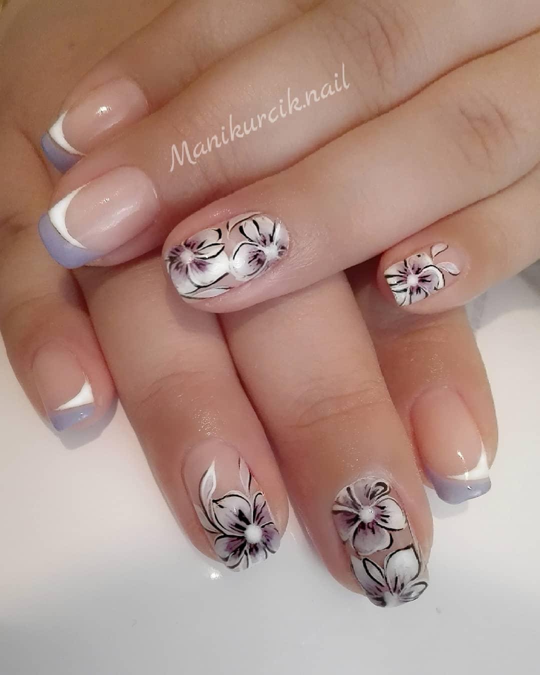 Французский маникюр на короткие ногти_54