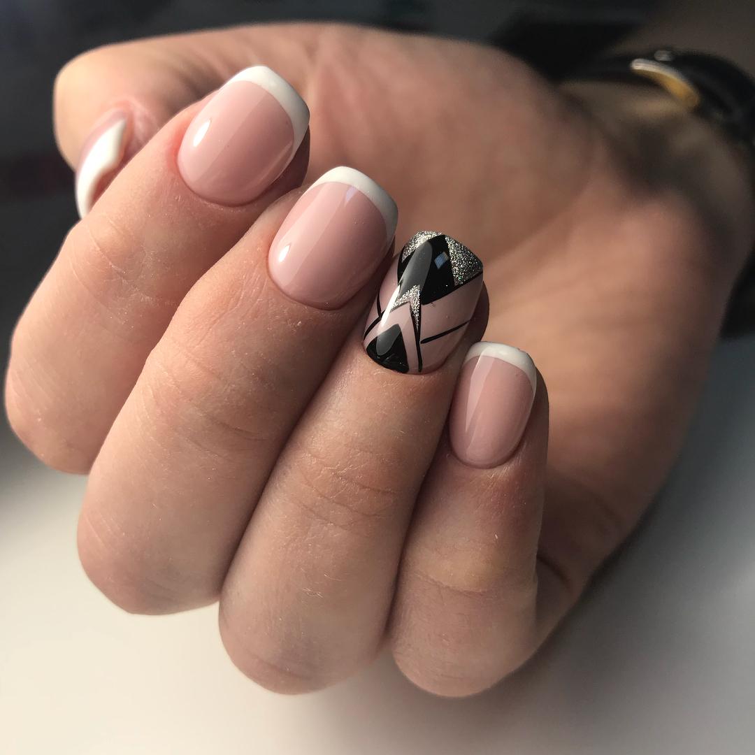 Французский маникюр на короткие ногти_77