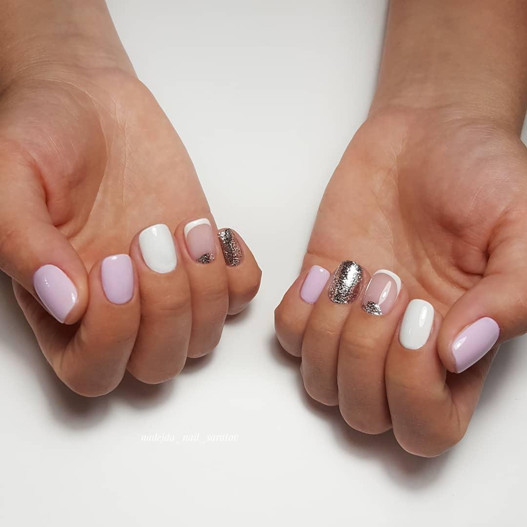 Французский маникюр на короткие ногти_86