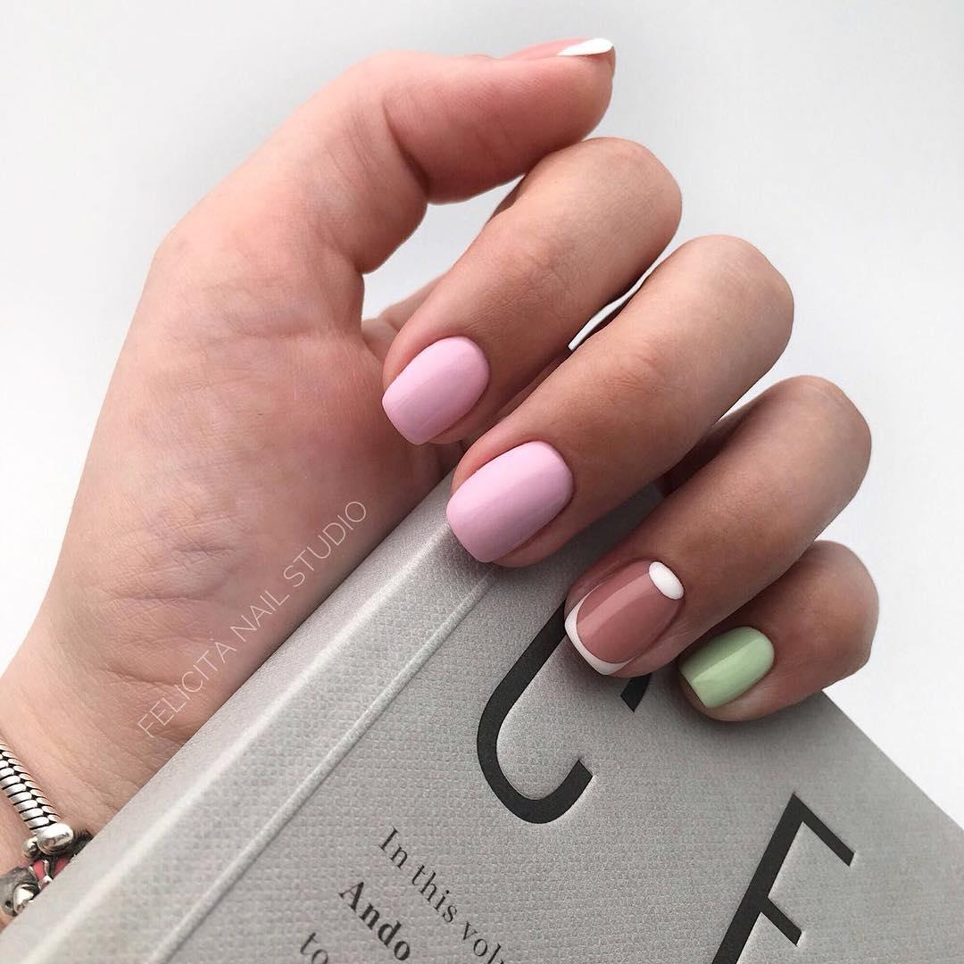 Французский маникюр на короткие ногти_132