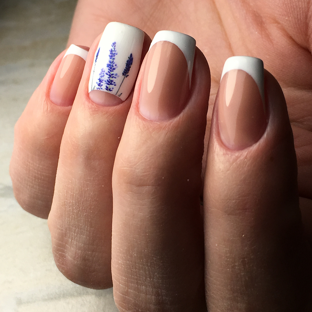 Французский маникюр на короткие ногти_56