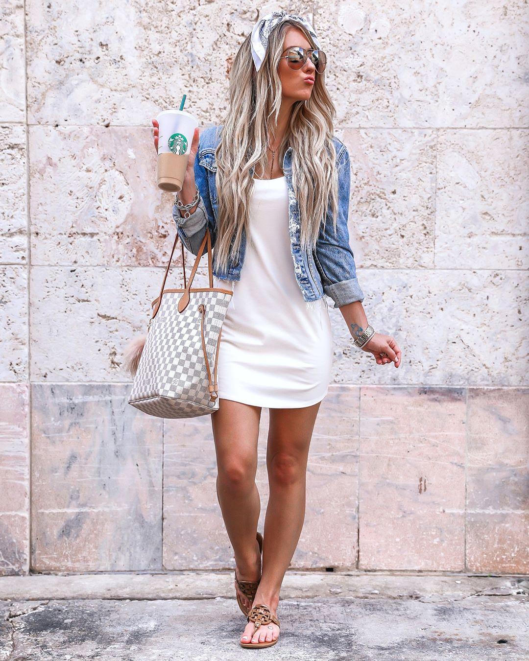 Платье с джинсовой курткой фото 10