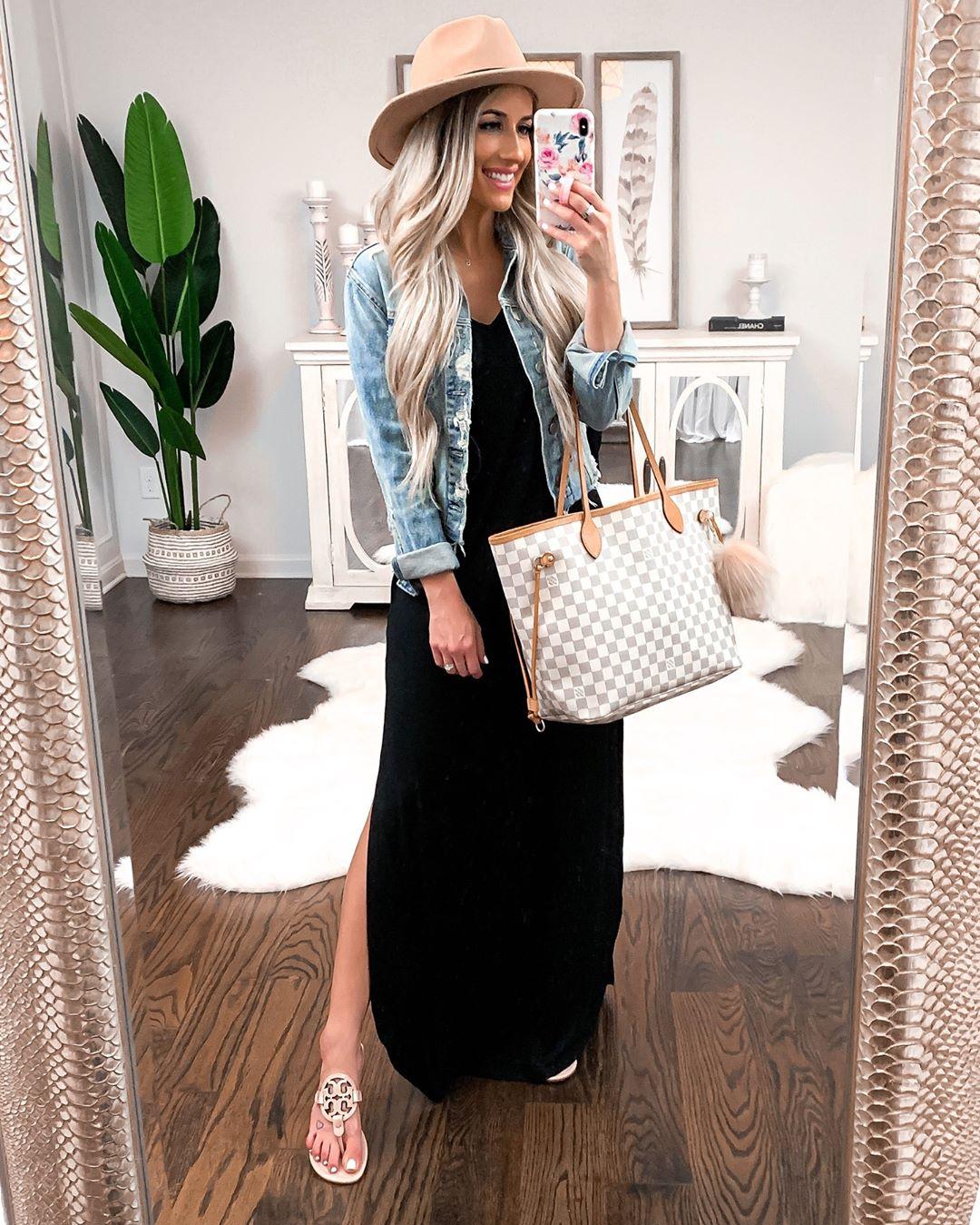 Платье с джинсовой курткой фото 11