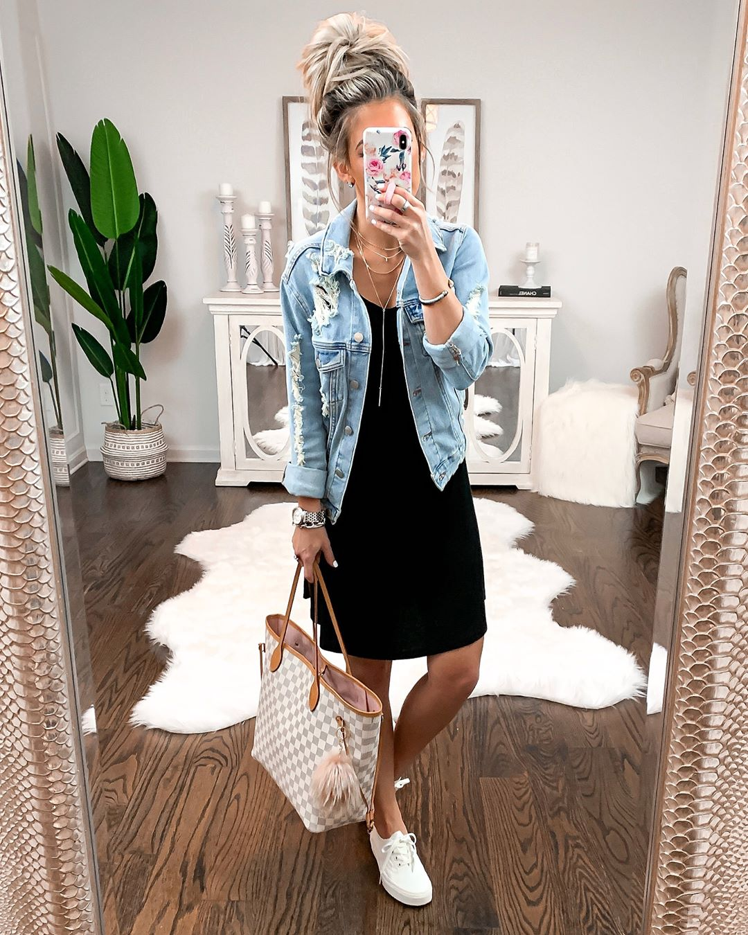 Платье с джинсовой курткой фото 12