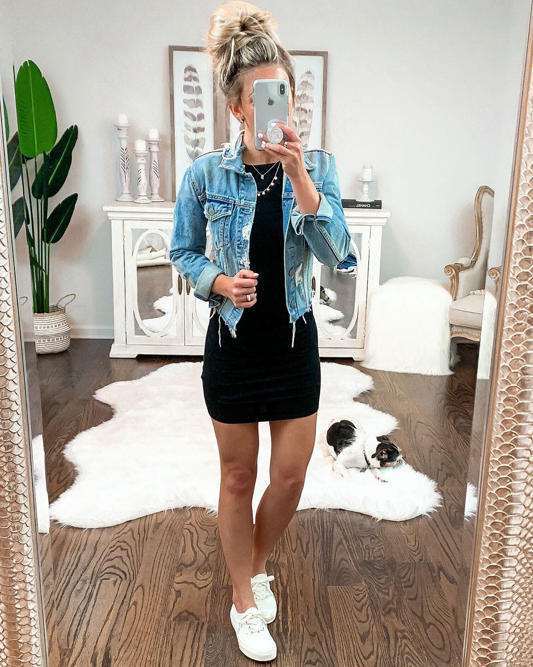 Платье с джинсовой курткой: 12 идей для создания летнего модного образа