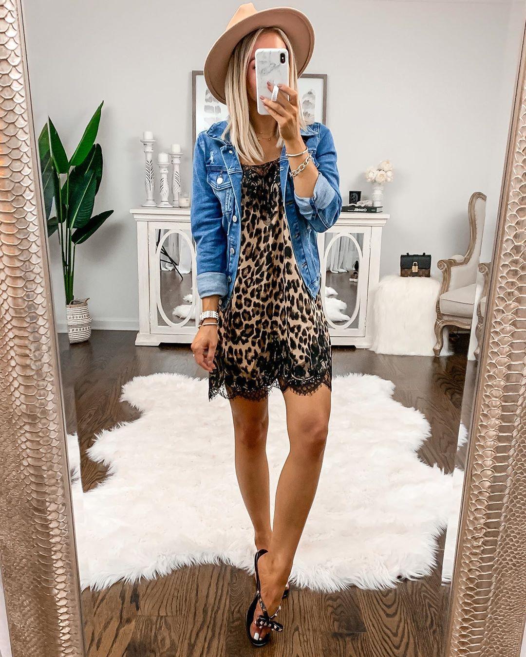 Платье с джинсовой курткой фото 13