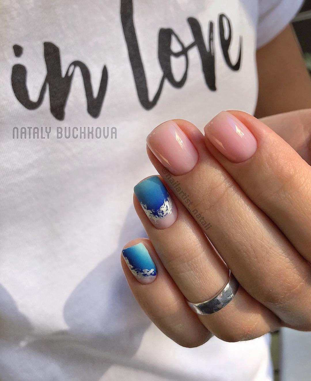 Французский маникюр на короткие ногти 2019-2020 фото идеи_6