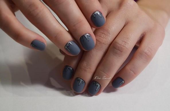 маникюр на короткие ногти фото 16