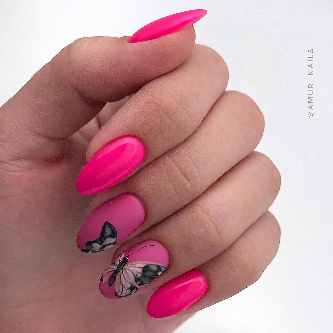 бабочки на ногтях фото 5