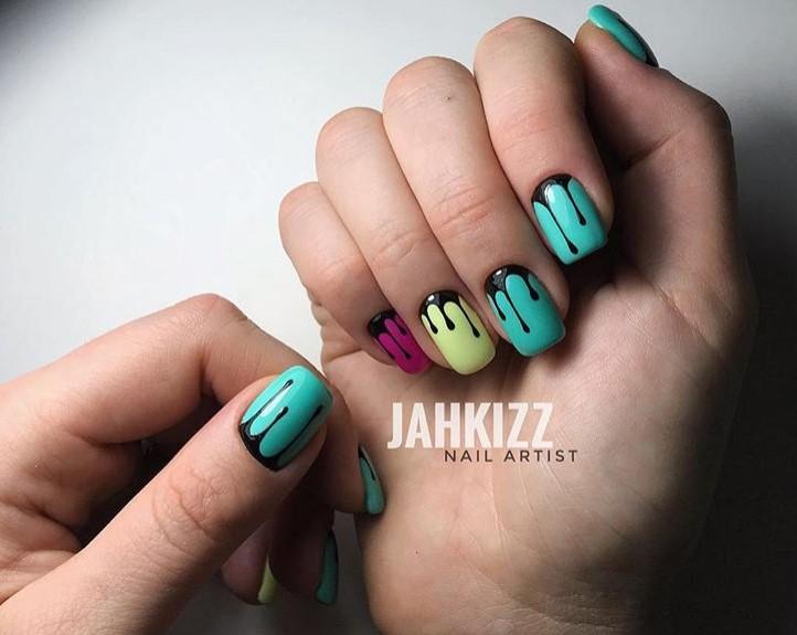 """Melted mani: """"Плавящийся"""" дизайн ногтей фото 5"""