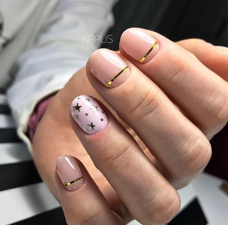 маникюр на короткие ногти фото 5