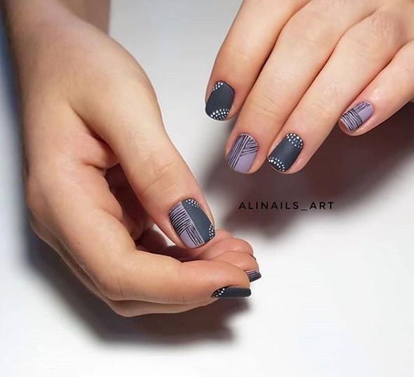 рисунки на коротких ногтях фото 1