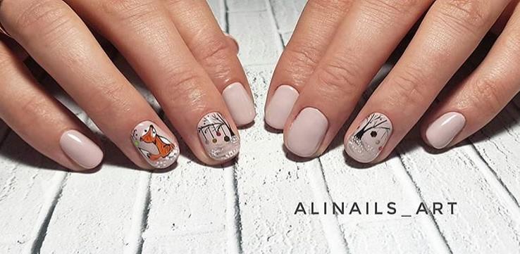рисунки на коротких ногтях фото 4