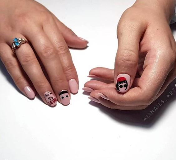 рисунки на коротких ногтях фото 5