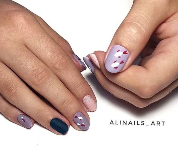 рисунки на коротких ногтях фото 7
