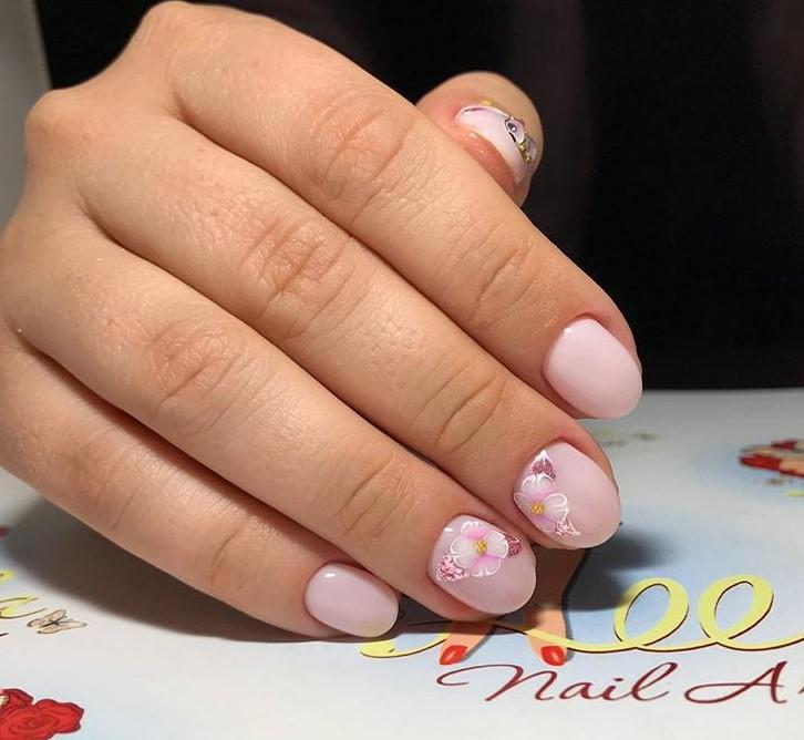 рисунки на коротких ногтях фото 8