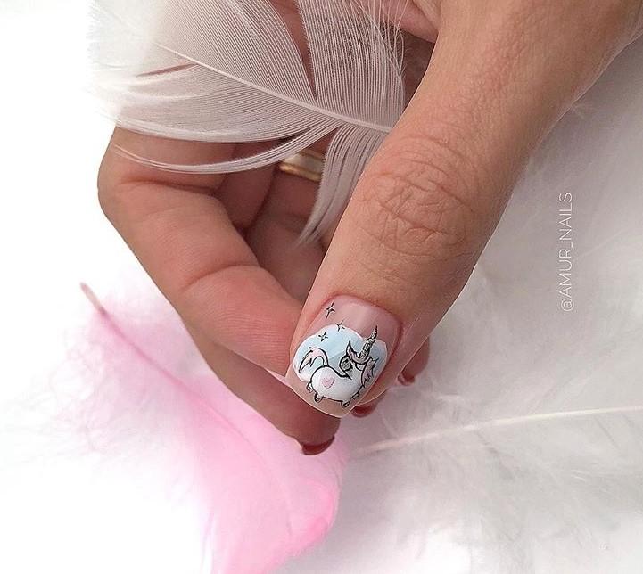 рисунки на коротких ногтях фото 9