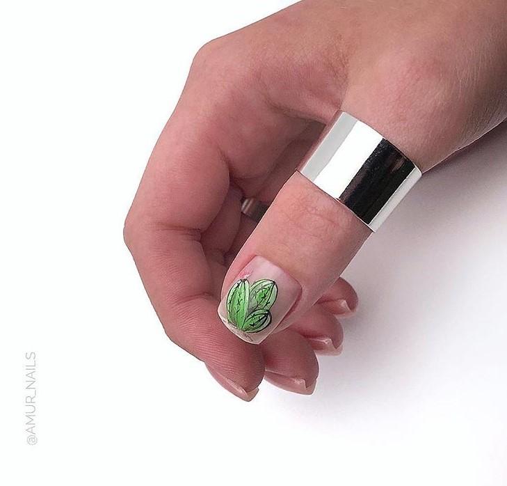 рисунки на коротких ногтях фото 10