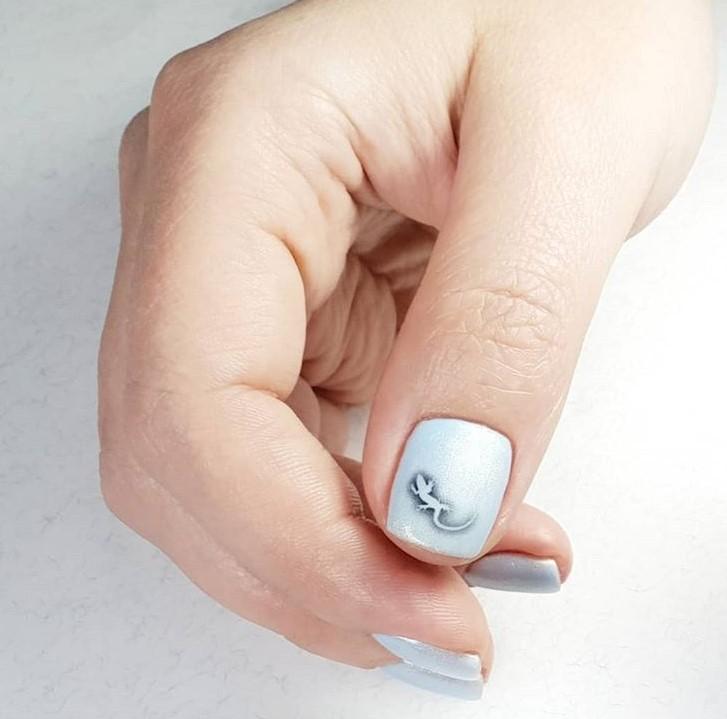 рисунки на коротких ногтях фото 12
