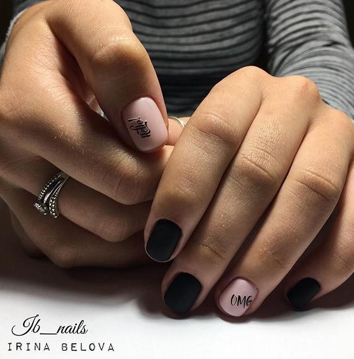 рисунки на коротких ногтях фото 17