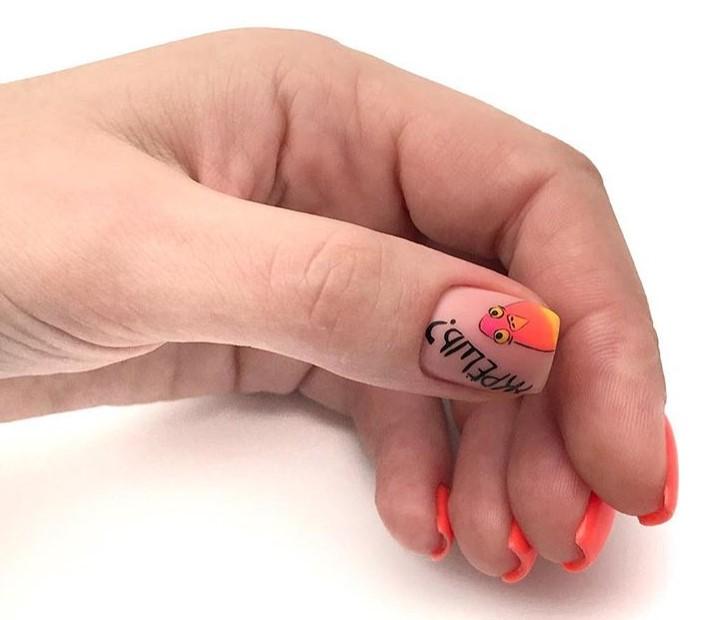 рисунки на коротких ногтях фото 19