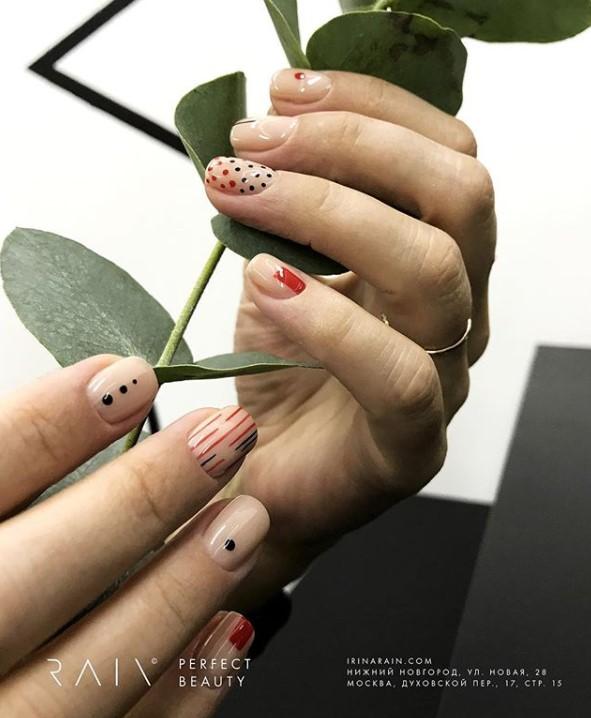 рисунки на коротких ногтях фото 20