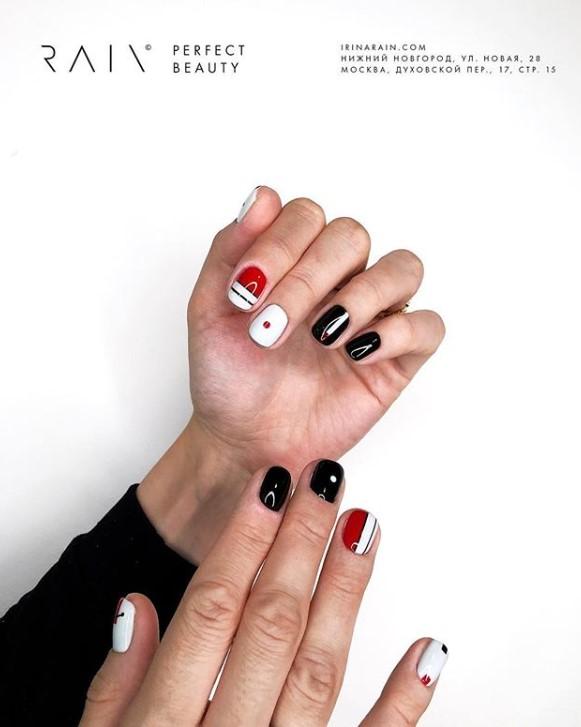 рисунки на коротких ногтях фото 23
