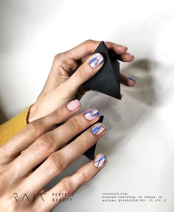 рисунки на коротких ногтях фото 22