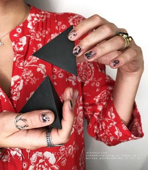рисунки на коротких ногтях фото 26