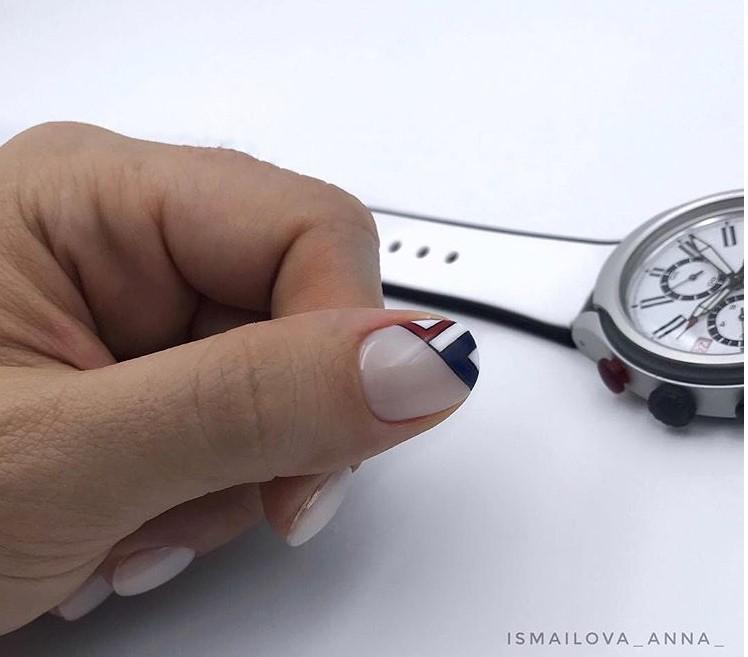 рисунки на коротких ногтях фото 34