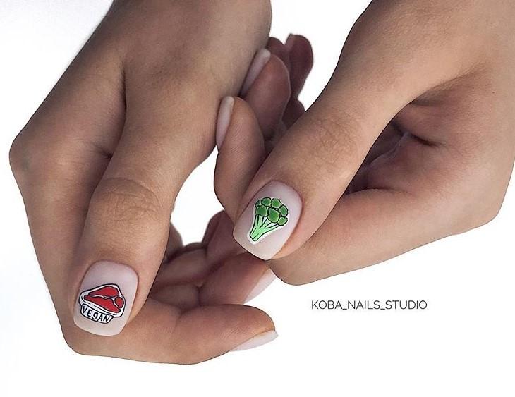 рисунки на коротких ногтях фото 43