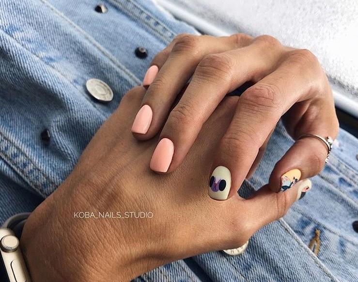 рисунки на коротких ногтях фото 44