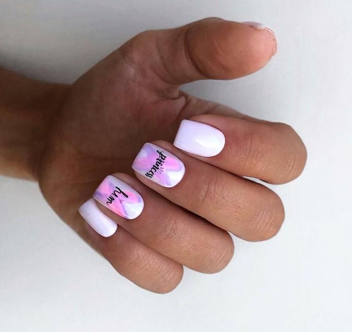 рисунки на коротких ногтях фото 47