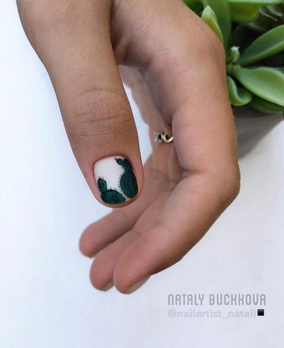 рисунки на коротких ногтях фото 51