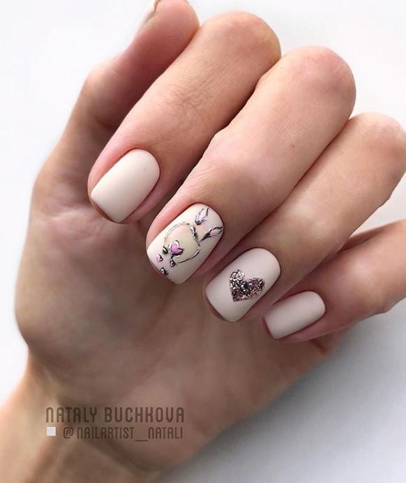 рисунки на коротких ногтях фото 53