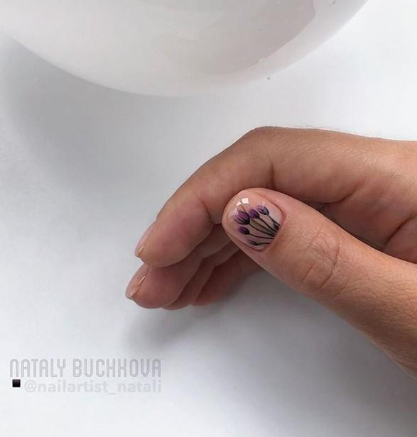 рисунки на коротких ногтях фото 54