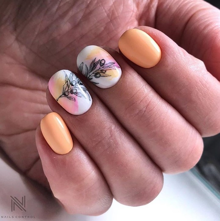 рисунки на коротких ногтях фото 56