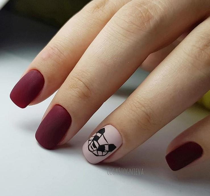 рисунки на коротких ногтях фото 62