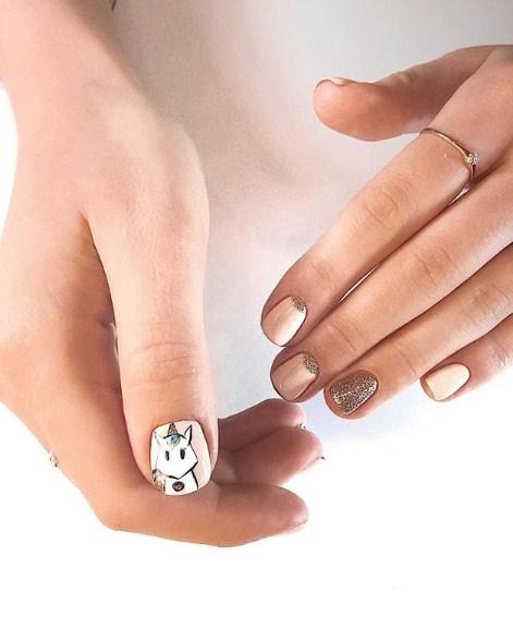 рисунки на коротких ногтях фото 63