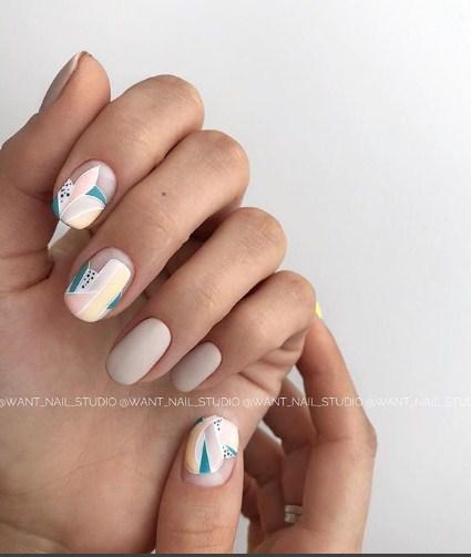 рисунки на коротких ногтях фото 69